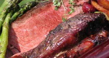 Sirloin Tip Beef With Rhubarb Plum Chutney